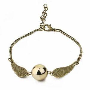 NWOT Harry Potter Bronze Golden Snitch Bracelet